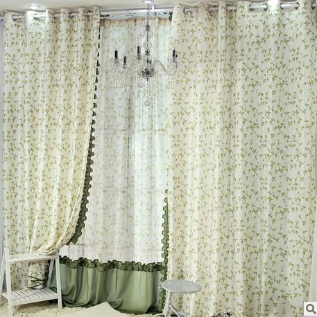 拼接款窗纱手工制作花边窗帘田园风格