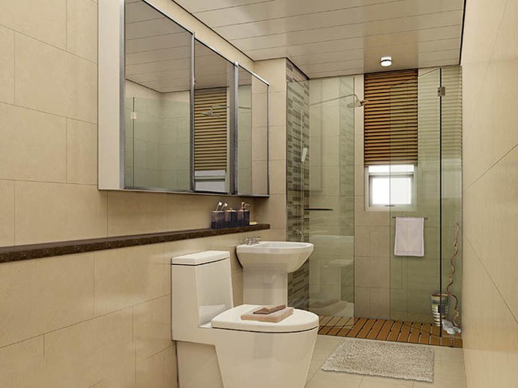 公寓式卫生间效果 卫生间 家装效果图,装修效果图 高清图片