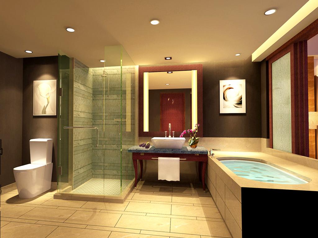 融创奥城 三居室 134平米 卫生间装修设计