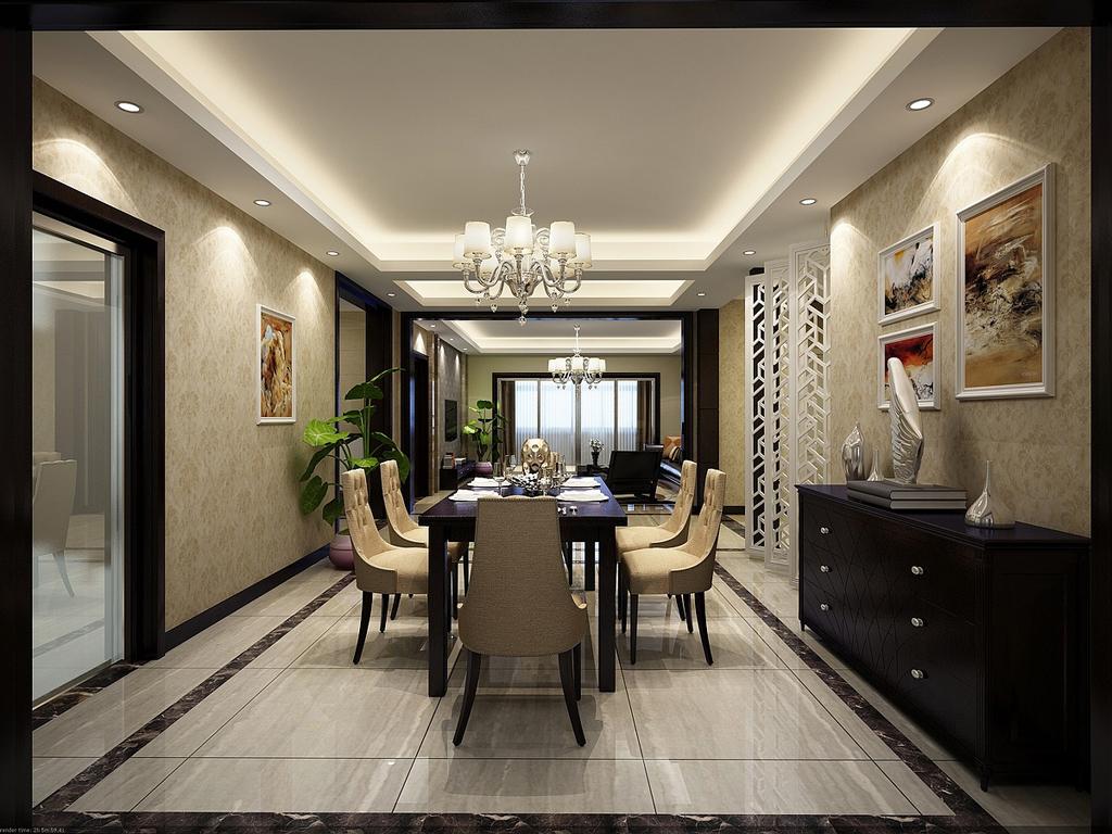 效果 餐厅,家装效果图,装修效果图,室内设计效果图,交换空间效