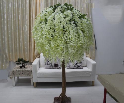 首选广州跨界高仿人造豆花树婚礼装饰