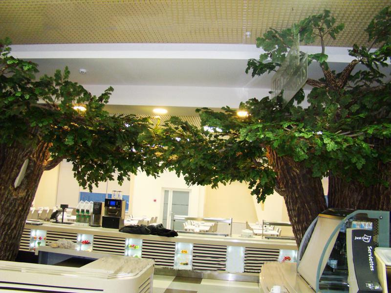 广州跨界景观工程高档人造橡树国外案例室内装饰