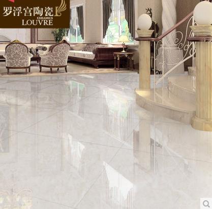 罗浮宫瓷砖全拋釉客厅地砖玻化砖仿大理石地板砖佛山