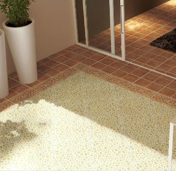 浴室防滑卫生间仿古砖地砖鹅卵石300X300