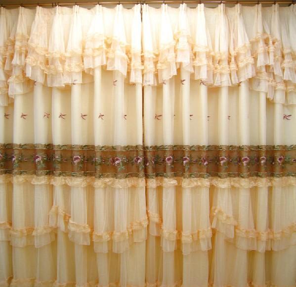 蕾丝窗帘客厅成品遮光布欧式地中海遮光窗帘