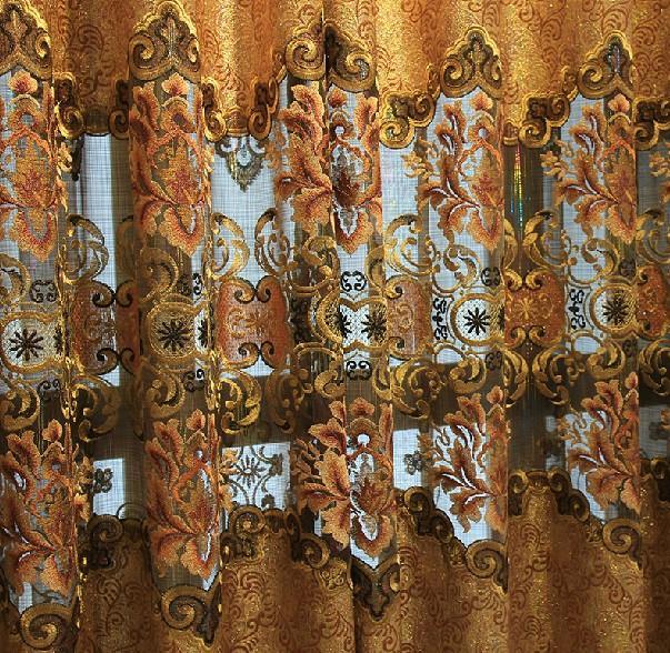 客厅大气 卧室成品欧式进口布料七彩线纱